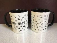 Personalised Harry Potter Two Tone Doodle Mug - HP Gift Muggle Wizard