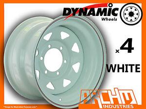 SET-OF-4-WHITE-4X4-DYNAMIC-SUNRAYSIA-WHEELS-16X8-6-139-7-OR-5-5-4WD-RIM-HILUX