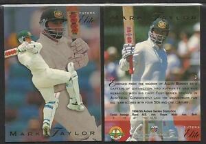 MARK TAYLOR 1995 FUTERA CRICKET ASHES ELITE CARD No 3
