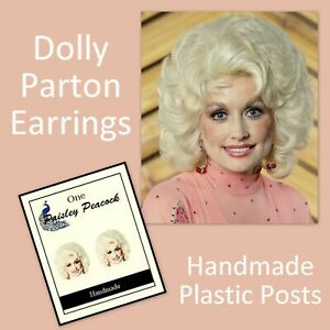 Small Dolly stud acrylic earrings choose your colour