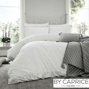 By-Caprice-HEPBURN-Silver-amp-White-Sequin-Trim-Duvet-Cover-Set