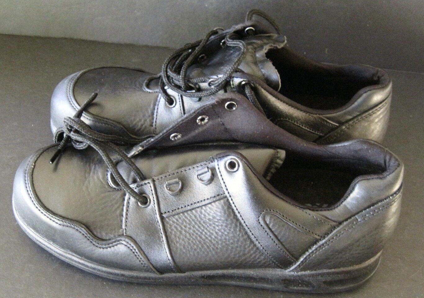 NIB Footbrakes Men's Safety Toe Footwear Sz 10 M Black Leather Shoes Boots