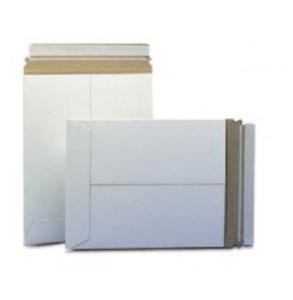 Pick Quantity 1-2000 Stay Flats Plus Envelope 12.75x15 White RIgid Sturdy Mailer