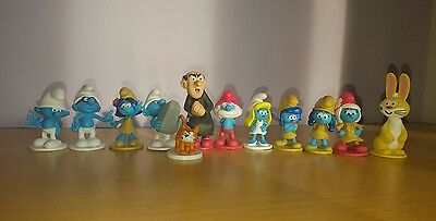12 Smurfs The Lost Village Cake Toppers plus Playmat & Story