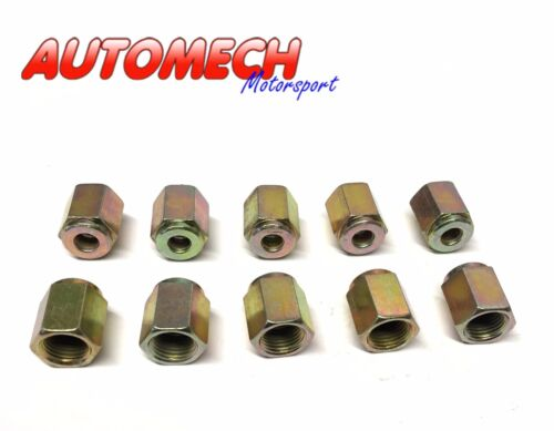 """U8 Automech Brake Pipe unions M10 x 1 for 3//16/"""" Pipe Pack of 10 Plated Finish"""