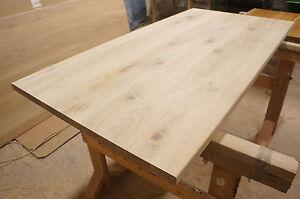 Details zu Tischplatte Arbeitsplatte Massivholzplatte Esstisch Eiche  Rustikal 40mm roh Holz