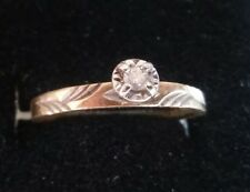 10K SOLID Gold Diamond Pre Engagement Promise Ring BY ARTCARVED  Size 6((138))