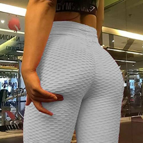 Women/'s High Waist Yoga Pants Anti-Cellulite Leggings Push Up Ruched Sports Gym