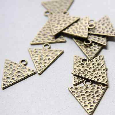 12pcs Antique Brass Tone Base Metal Charm - Triangle 26x24mm (9287Y-F-416)