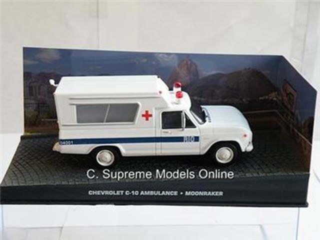 CHEVROLET C-10 C-10 C-10 AMBULANCE 1 43RD SIZE MODEL USA WHITE blueE TYPE BXD Y0675J^^ 85ccb5