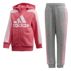 Détails sur Adidas Enfants Linéaire Survêtement Course Graphique Capuche Ensemble Sport Gym