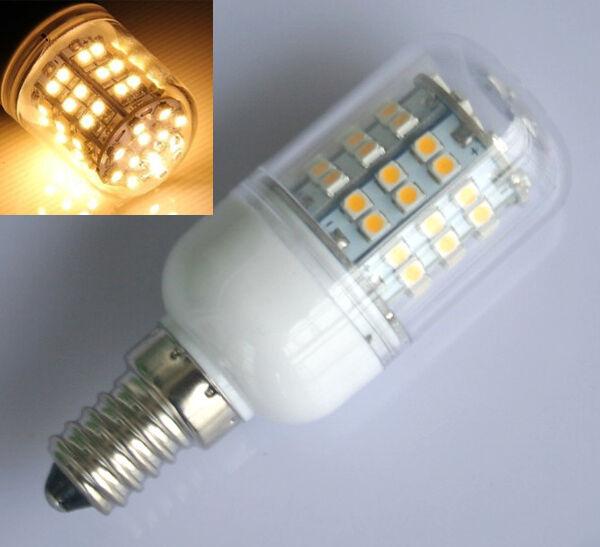 6pcs Warmweiß E14 5W 60 LED 3528 SMD Beleuchtung Lampe Leuchtmittel Leuchte 230V
