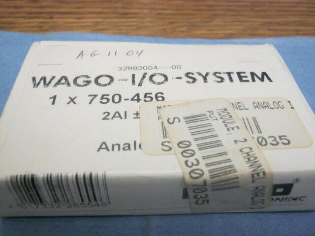 Wago- I/O Systems Modèle :750-456 Analogique Module. Neuf Stock Ancien <