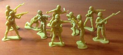 10 Soldatini Fanteria Ii Guerra Mondiale 5 Cm. Alta Qualità E Poco Costoso