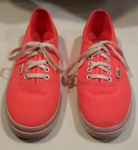 5aec55268980b1 Sneakers Vans Off The Wall Neon Orange Shoes Low Top Women s 6.5 ...