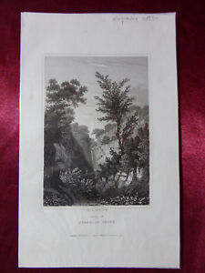Antique-engraving-VIEW-HEAD-OF-SHANKLIN-CHINE-ISLE-OF-WIGHT-c1830-Veduta-print
