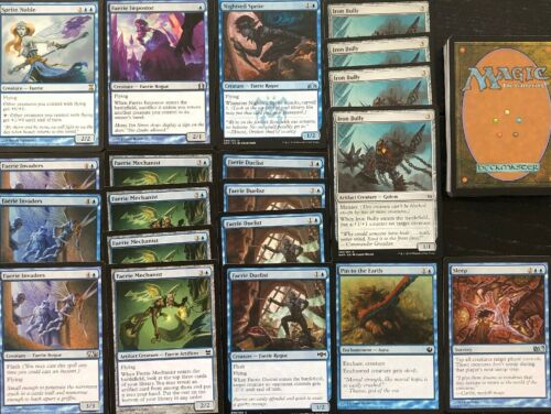 FAIRY DECK Blue Ready To Play 60 Cards Mtg FAERIE