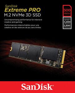 SanDisk Extreme PRO 500 GB Extreme PRO M.2 NVMe 3D...