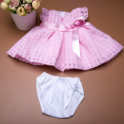 """Handmade Pink Bowknot Summer Dress Doll Clothes fits 18/"""" Doll Toys  New."""