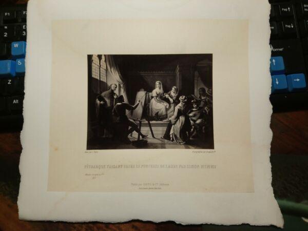$ 800 Foto Stampa Petrarque Faisant Faire La Portrait De Laure Par Simon Memmi