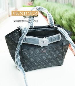 BNWT RRP$209 GUESS REGATTA Handbag Shoulder Bag Satchel Black Multi