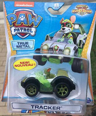 paw patrol tracker die cast vehicle mighty pups super paws tracker diecast 778988289396 | ebay