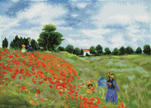 "monet Diamond Dotz Diamond Embroidery Facet Art Kit 22.4/""X16.1/""-Poppy Fields"