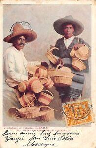 CPA-MEXIQUE-VENDEDORES-DE-CANASTAS-MEXICO-dos-non-divise