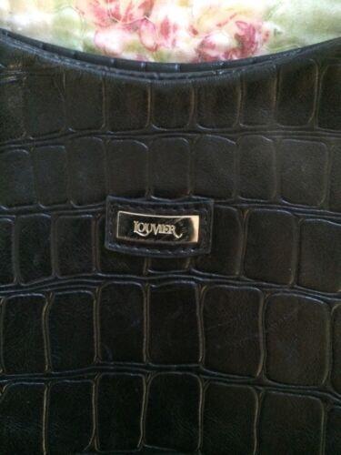 zwarte Prachtige Louvier handtasVGC Parijs lederen 76fbvYgy