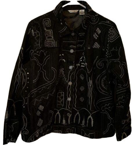 Vintage (1990's)Laura Ashley Jean Shirt Jacket Em… - image 1