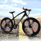 Carbon 24 Speed Steel Double Disc Brake 3 Spokes Wheel Mountain Bike 26''