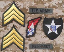 JOHN LENNON BEATLES ARMY KOREA WAR JACKET VELCRO® BRAND FASTENER PATCH SET