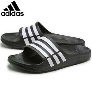 Details about Adidas Duramo Slides Mens Sliders Flip Flops Slippers Beach Summer Pool Shoes