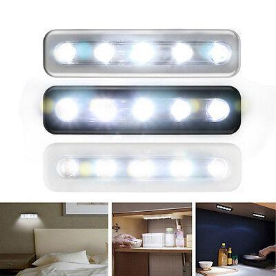 Handy Adhesive LED Under Cabinet Wardrobe Tap Push LED Lamp Touch Night Light