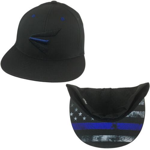 All Black//Blue Line XS//SM PTS30 Easton Hat by Richardson