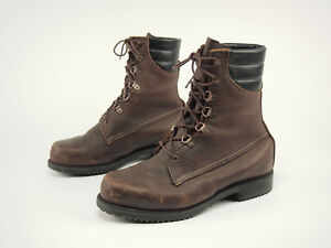 272fca33cfa64 Details about 1990s IRISH SETTER Vintage Brown Leather Insulated GTX  Hunting Sport Boots 10 H