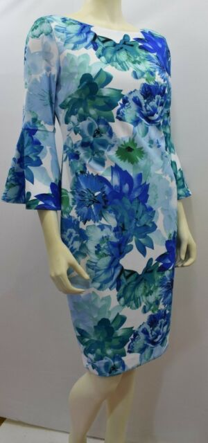 CALVIN KLEIN BELL SLEEVES SHEATH DRESS  6 NEW WITH TAG