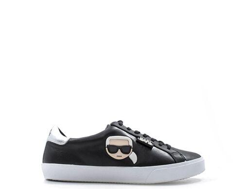 Scarpe KARL LAGERFELD Donna Sneakers Trendy  NERO Pelle naturale KL60120-000