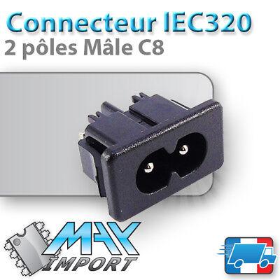 Neuf 220V 2P Prise 110 Connecteur IEC320 C8 male