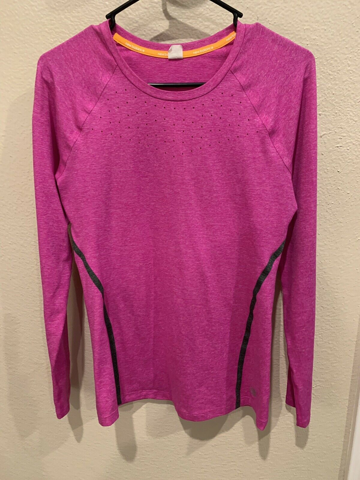 New Balance Women's Trinamic Long Sleeve Top, Pink , Size Small