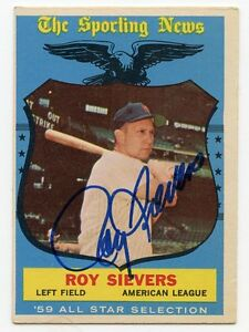 ROY-SIEVERS-Signed-1959-Topps-All-Star-566-High-Number-Senators-PSA-Guarantee