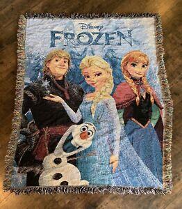 NEW Disney Frozen Elsa Anna Kristoff /& Olaf Fleece Blanket Throw 46x60 Northwest