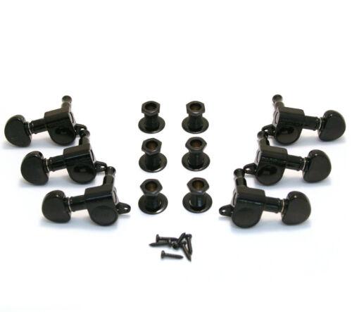 Tuning Machines Grover 205BC  Mini Rotomatic 3 x 3 Black Chrome