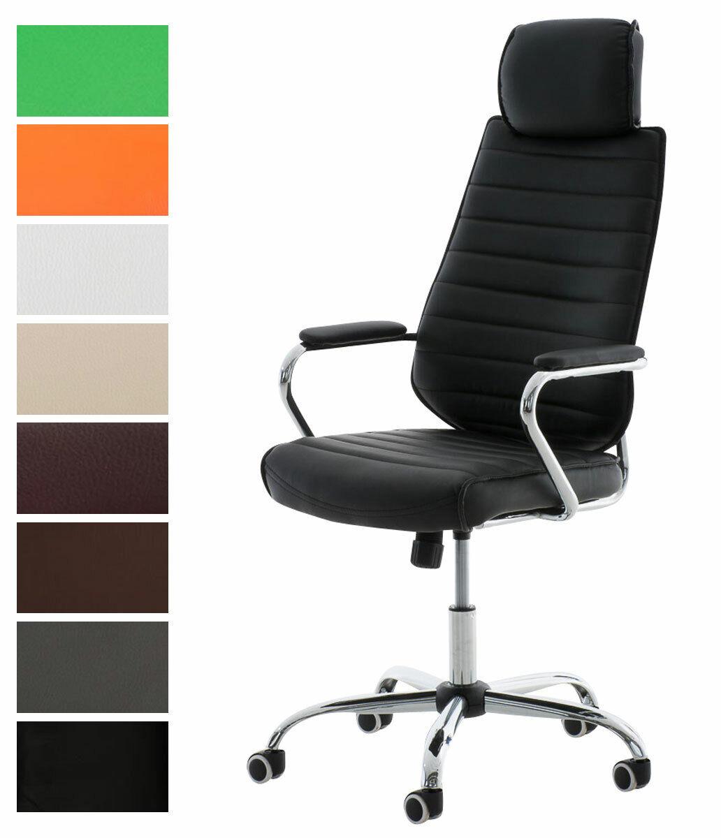 Bürostuhl Rako V2 Kunstleder mit Armlehne Schreibtischstuhl Büromöbel drehbar