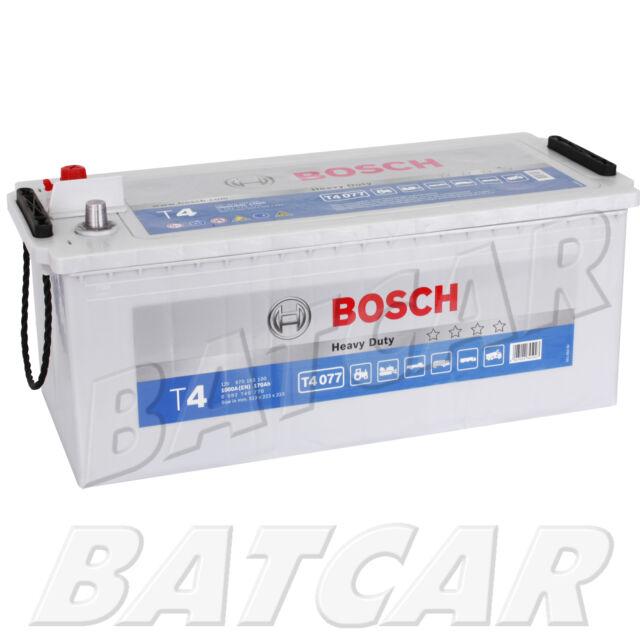 LKW Batterie BOSCH T4 077 12V 170Ah 1000EN Heavy Duty NKW Land Starter Batterie