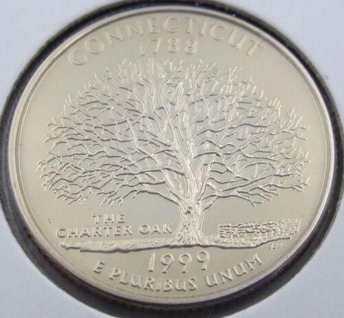 4258 1999 S Proof Connecticut State Quarter Clad