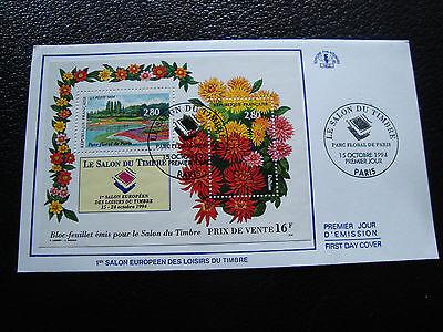 Europa Kreativ Frankreich Umschlag 1 Tag 15/10/1994 Der Saal Der Stempel Cy45 Französisch