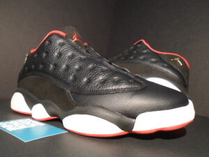 d1f9ebf96921 2015 NIKE AIR JORDAN XIII 13 RETRO LOW BRED BLACK GOLD RED WHITE ...