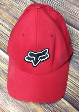 Fox Racing CRYPTIC Red Silver Black Flexfit Permacurve Baseball Cap Men/'s Hat