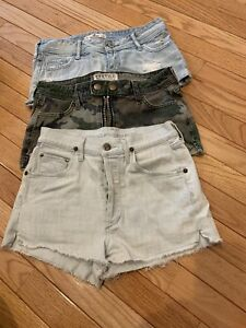 3-Pairs-Ladies-Girls-Shorts-Hollister-Citizens-Of-Humanity-Jean-Size-24-0